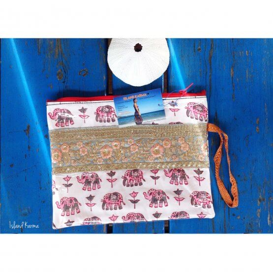 Pochette Elephant Rose Creation islandkarma